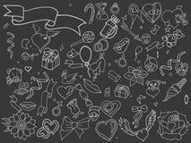 Línea vector de Valentine Day del diseño del arte Imagenes de archivo