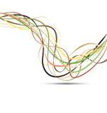 Línea vector del color de la cinta Foto de archivo libre de regalías