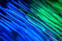 Línea Verde azul defocused abstracta Foto de archivo libre de regalías