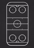 Línea vertical vector de la corte del hockey sobre hielo Imagenes de archivo