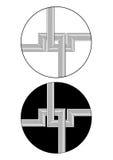 Línea y diseño del círculo Foto de archivo libre de regalías