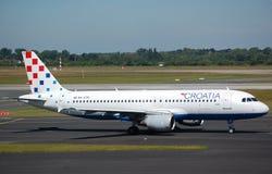 Líneas aéreas Airbus 320 de Croatia Foto de archivo libre de regalías