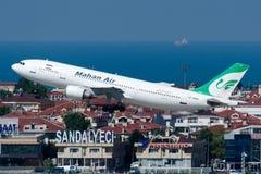 Líneas aéreas Airbus A300B4-605R de EP-MNN Mahan Foto de archivo