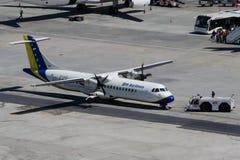 Líneas aéreas ATR72-212 de E7-AAD BH Imagen de archivo libre de regalías