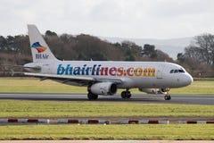 Líneas aéreas balcánicas Airbus 320-200 de los días de fiesta Imágenes de archivo libres de regalías