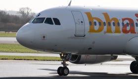 Líneas aéreas balcánicas Airbus 320-200 de los días de fiesta Imagenes de archivo