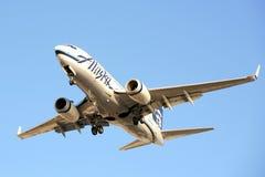 Líneas aéreas Boeing 737 de Alaska Foto de archivo libre de regalías