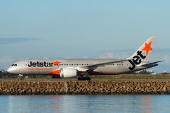 Líneas aéreas Boeing 787 Dreamliner de Jetstar Imagenes de archivo