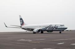 Líneas aéreas de Alaska Imágenes de archivo libres de regalías