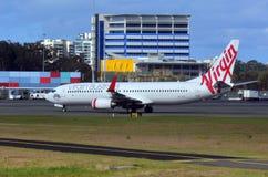 Líneas aéreas de Australia de la Virgen Fotos de archivo