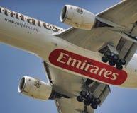 Líneas aéreas de los emiratos Fotografía de archivo