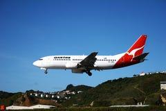 Líneas aéreas de Qantas fotos de archivo libres de regalías