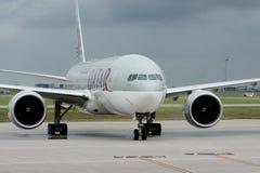 Líneas aéreas de Qatar fotografía de archivo libre de regalías