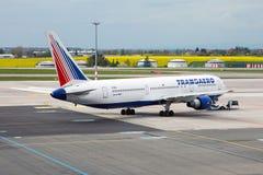 Líneas aéreas de Transaero Foto de archivo