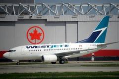 Líneas aéreas de Westjet Imagen de archivo