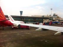 Líneas aéreas del jet de la especia Foto de archivo