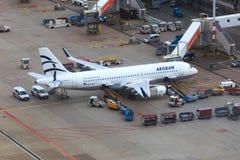 Líneas aéreas egeas Airbus A320 Fotos de archivo libres de regalías