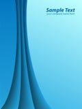 Líneas abstractas azules stock de ilustración