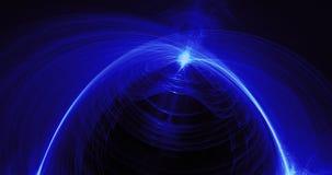 Líneas abstractas azules fondo de las partículas de las curvas Fotografía de archivo