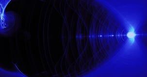 Líneas abstractas azules fondo de las partículas de las curvas Imagen de archivo