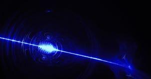 Líneas abstractas azules fondo de las partículas de las curvas Fotografía de archivo libre de regalías