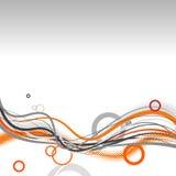 Líneas abstractas con los círculos. V Fotos de archivo