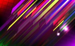Líneas abstractas diseño en fondo oscuro. Fotos de archivo