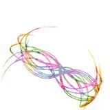 Líneas abstractas en el fondo blanco libre illustration