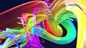 Líneas abstractas en el movimiento como fondo creativo inconsútil Las rayas coloridas tuercen en una formaci?n circular 3D coloca stock de ilustración