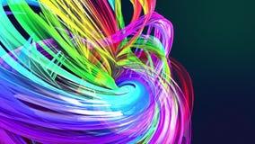 Líneas abstractas en el movimiento como fondo creativo inconsútil Las rayas coloridas tuercen en una formaci?n circular 3D coloca libre illustration