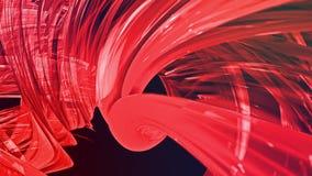Líneas abstractas en el movimiento como fondo creativo inconsútil Las rayas coloridas tuercen en una formaci?n circular 3D coloca almacen de metraje de vídeo