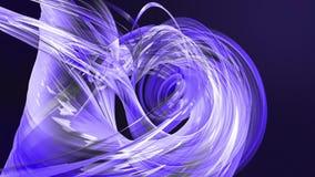 Líneas abstractas en el movimiento como fondo creativo inconsútil Las rayas coloridas tuercen en una formaci?n circular 3D coloca metrajes