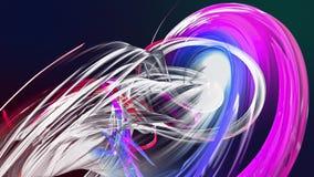 Líneas abstractas en el movimiento como fondo creativo inconsútil Las rayas coloridas tuercen en una formaci?n circular 3D coloca almacen de video