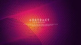 Líneas abstractas fondo de la onda para el diseño del elemento y otros usuarios stock de ilustración