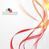 Líneas abstractas modernas inflamadas stock de ilustración