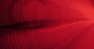 Líneas abstractas rojas fondo de las partículas de las curvas Fotografía de archivo