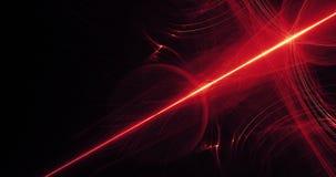 Líneas abstractas rojas y amarillas fondo de las partículas de las curvas Imagenes de archivo