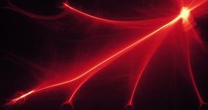 Líneas abstractas rojas y amarillas fondo de las partículas de las curvas Fotos de archivo libres de regalías
