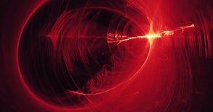 Líneas abstractas rojas y amarillas fondo de las partículas de las curvas Imágenes de archivo libres de regalías