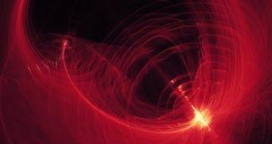 Líneas abstractas rojas y amarillas fondo de las partículas de las curvas Foto de archivo