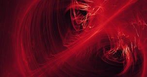 Líneas abstractas rojas y amarillas fondo de las partículas de las curvas Fotos de archivo