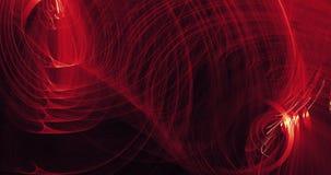 Líneas abstractas rojas y amarillas fondo de las partículas de las curvas Fotografía de archivo libre de regalías