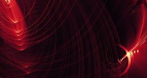 Líneas abstractas rojas y amarillas fondo de las partículas de las curvas Imagen de archivo