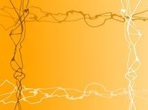 Líneas al azar anaranjadas Imagen de archivo libre de regalías