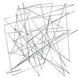 Líneas al azar, irregulares, nerviosas caóticas Fondo geométrico abstracto con las curvas quebradas para crear texturas stock de ilustración