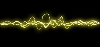 Líneas amarillas del fx Foto de archivo libre de regalías