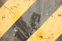 Líneas amarillas y negras fotografía de archivo