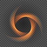 Líneas anaranjadas claras lisas en el ejemplo del fondo de la transparencia stock de ilustración