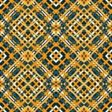 Líneas anaranjadas y negras ejemplo inconsútil del vector del modelo del fondo geométrico hermoso Imagen de archivo libre de regalías