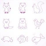 Líneas animales Imagenes de archivo